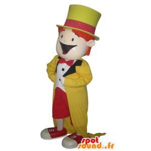 Mascot colored man, magician. show mascot - MASFR032091 - Human mascots