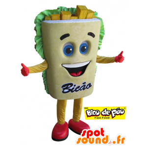 Mascotte de frite géante. Mascotte de snack - MASFR032100 - Mascottes Fast-Food
