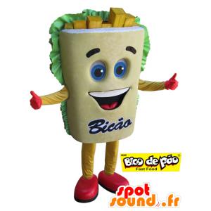 Paistettu jättiläinen maskotti. maskotti välipala - MASFR032100 - Mascottes Fast-Food