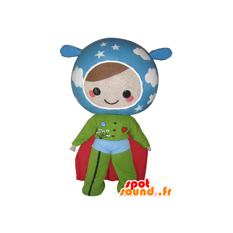 κούκλα μασκότ με τα χρώματα της Γης. υπερήρωα - MASFR032112 - superhero μασκότ