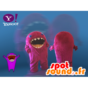 Mascot pink monster. Yahoo mascot - MASFR032115 - Monsters mascots