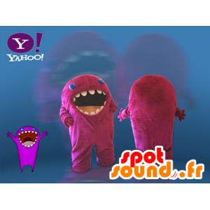 Maskot růžový monstrum. Yahoo maskot - MASFR032115 - Maskoti netvoři