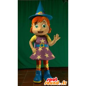 Keiju Mascot, taikuri, punapää noita - MASFR032124 - keiju Maskotteja