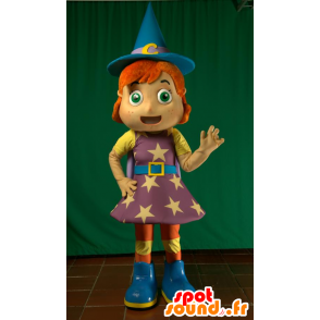 Mascotte de fée, de magicienne, de sorcière rousse - MASFR032124 - Mascottes Fée