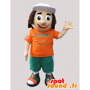 Schneemann Maskottchen mittleren bis langen Haaren. Werbung Maskottchen - MASFR032133 - Menschliche Maskottchen
