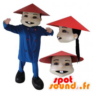 Mascotte Aziatische man in de Chinese traditionele kleding - MASFR032145 - man Mascottes