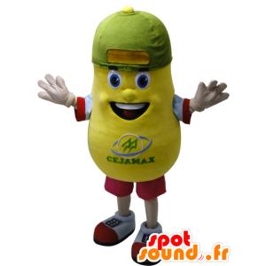 Mascotte de patate jaune, géante. Mascotte de pomme de terre