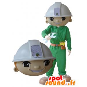 Arbeiter Maskottchen, ein Mann mit einem Helm und Uniform - MASFR032164 - Menschliche Maskottchen
