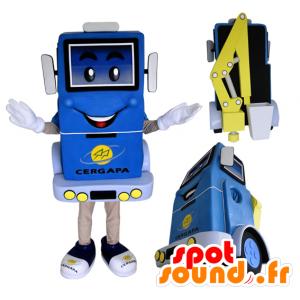 Mascot Truck liften, blauw en geel - MASFR032165 - mascottes objecten