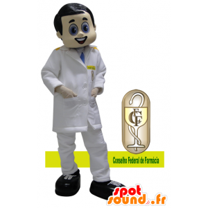 Arzt Maskottchen in einem weißen Mantel gekleidet - MASFR032169 - Menschliche Maskottchen