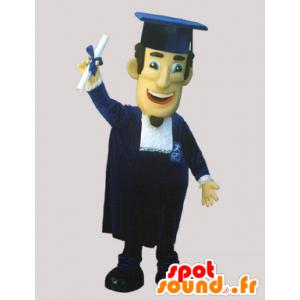 Mascot Absolvent mit einer Kappe und einem Kleid - MASFR032171 - Menschliche Maskottchen