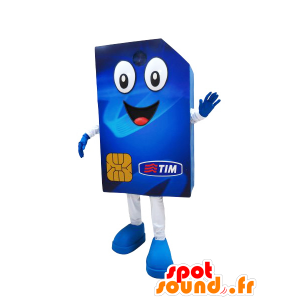 Mascot Blau SIM-Karte Riese und gemütlich