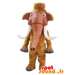 Brun mammut maskot med store forsvars - MASFR032181 - utdødde dyr Maskoter