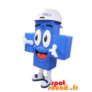Blå kors maskot, jätte och leende - Spotsound maskot