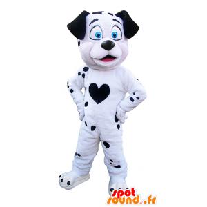 Maskotka z czarnego i białego psa. Dalmatyńczyk maskotka - MASFR032226 - dog Maskotki