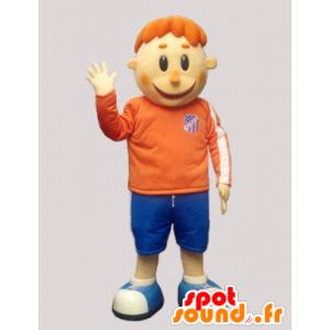 Mascota pelirroja en ropa deportiva - MASFR032239 - Mascota de deportes