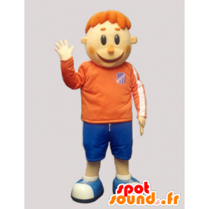 Mascotte rossa in abbigliamento sportivo - MASFR032239 - Mascotte sport