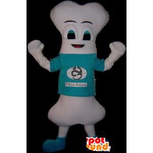 Mascot reusachtige witte bot, zeer origineel - MASFR032252 - Niet-ingedeelde Mascottes