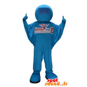 Blau Schneemann Maskottchen. blauen Overalls - MASFR032264 - Menschliche Maskottchen