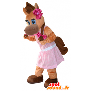 Mascota del caballo marrón, potro, bonito y femenino - MASFR032281 - Caballo de mascotas