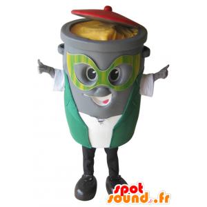 Roskakoriin maskotti, harmaa jäteastian - MASFR032287 - Mascottes d'objets