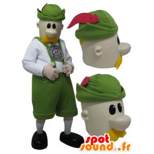 Mascot pukeutunut pukeutunut mies Tirolin - MASFR032291 - Mascottes Homme