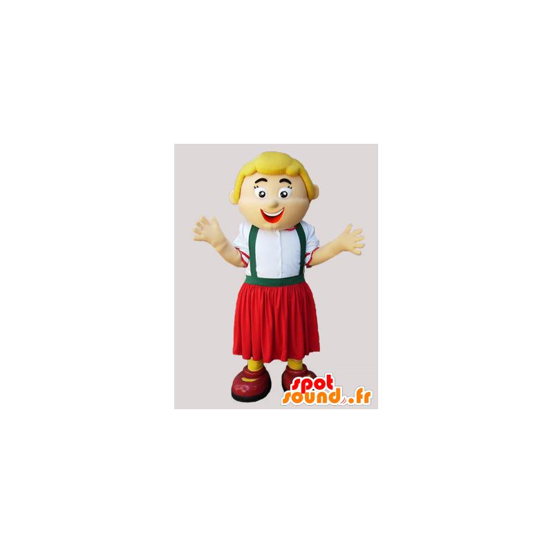 Mascot blond kvinne som holder Tyrolean - MASFR032297 - Kvinne Maskoter