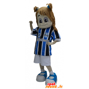 Ragazza mascotte vestita di abbigliamento sportivo - MASFR032316 - Mascotte sport
