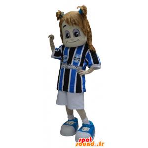 Tyttö maskotti pukeutunut urheiluvaatteet - MASFR032316 - urheilu maskotti