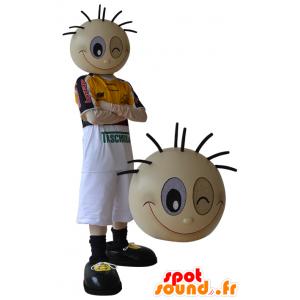 Mascot urheilullinen poika tekee silmäyksellä - MASFR032319 - urheilu maskotti