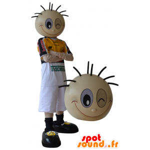 Maskot sportovní chlapec dělá pohled - MASFR032319 - sportovní maskot