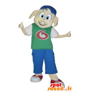 Gekleidet Schwein Maskottchen gekleidete junge - MASFR032320 - Maskottchen Schwein