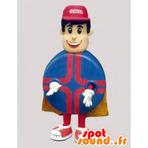 L'uomo mascotte supereroe con un corpo rotondo - MASFR032330 - Umani mascotte