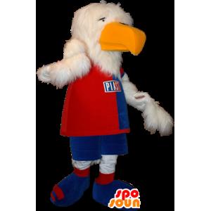 Mascotte avvoltoio, aquila bianca in abbigliamento sportivo - MASFR032334 - Mascotte sport