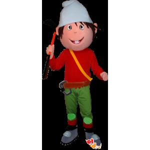 Leprechaun maskotti, kääpiö, vuorikiipeilijä - MASFR032342 - joulun Maskotteja