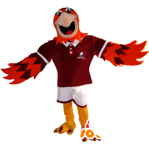Μασκότ πορτοκαλί και μοβ αετός σε αθλητικά - MASFR032345 - σπορ μασκότ