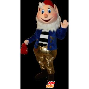 Mascotte bebaarde dwerg. Prof. Mascot - MASFR032348 - Kerstmis Mascottes