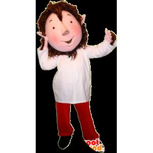 Mascotte de lutin avec les oreilles pointues et une tenue colorée - MASFR032359 - Mascottes Noël