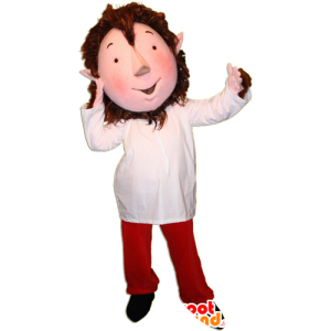 Kabouter mascotte met spitse oren en een kleurrijke outfit - MASFR032359 - Kerstmis Mascottes