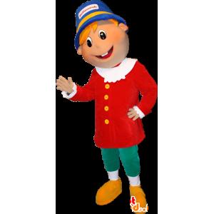 Poika Mascot vaalea värikäs asu - MASFR032365 - Maskotteja Boys and Girls