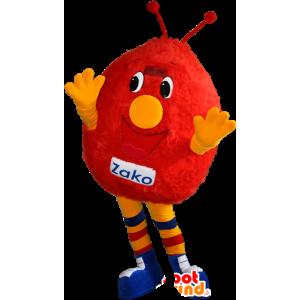 Mascotte de bonhomme rouge et jaune. Mascotte de monstre rouge - MASFR032367 - Mascottes de monstres