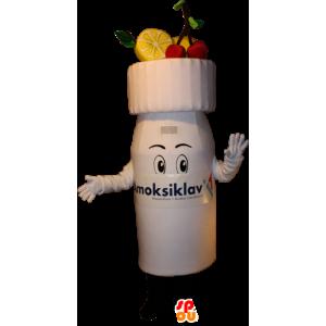 Mascotte de yaourt à boire, de boisson fruitée - MASFR032377 - Mascottes Fast-Food