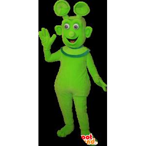 Mascot alien, utenomjordisk grønn, søt og smilende - MASFR032383 - utdødde dyr Maskoter