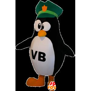 Schwarz-Weiß-Pinguin-Maskottchen mit einem schwarzen Hut - MASFR032392 - Pinguin-Maskottchen