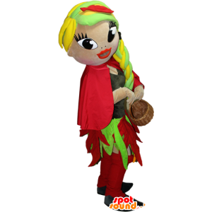 Very pretty and colorful female mascot - MASFR032397 - Mascots woman