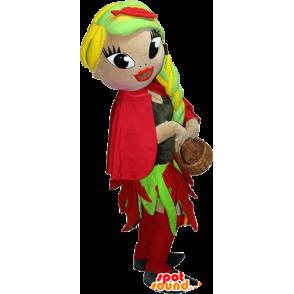 Very pretty and colorful female mascot - MASFR032397 - Mascots woman