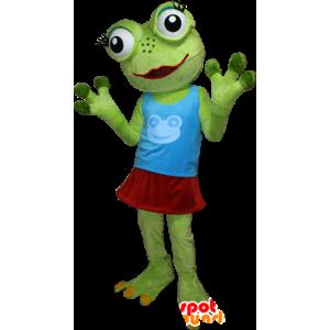 Mascot molto divertente rana verde con grandi occhi - MASFR032405 - Rana mascotte