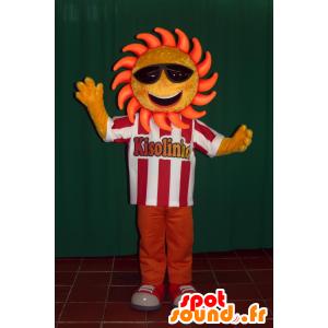 Maskot slunce se slunečními brýlemi - MASFR032438 - Neutajované Maskoti
