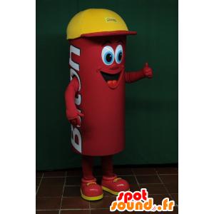 Mascot rode mens, met een cilindrische dop - MASFR032454 - man Mascottes
