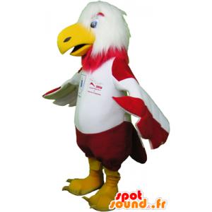 Mascotte d'aigle rouge et blanc en tenue de sport - MASFR032471 - Mascotte sportives